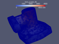 solution poisson equation 3D complex geometry, surface with edges
